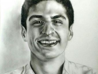 طراحی سیاه قلم از چهره