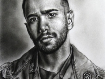 سرباز وظیفه . طراحی سیاه قلم . سفارش