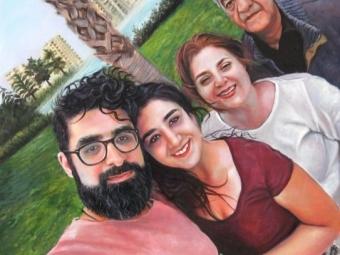 نقاشی از سلفی خانواده